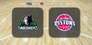 Minnesota Timberwolves vs Detroit Pistons