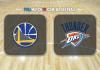 Golden State Warriors vs Oklahoma City Thunder