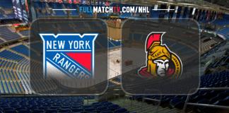 New York Rangers vs Ottawa Senators