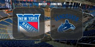 New York Rangers vs Vancouver Canucks