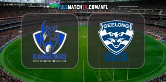 North Melbourne Kangaroos vs Geelong Cats