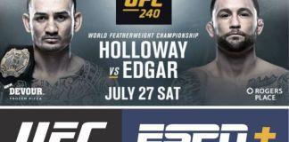 UFC 240 Holloway vs Edgar