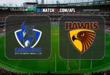 North Melbourne Kangaroos vs Hawthorn Hawks