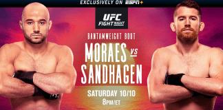 UFC Fight Night Moraes vs Sandhagen