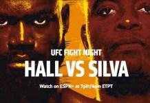 UFC Fight Night Hall vs Silva