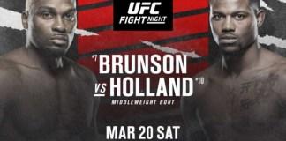 UFC on ESPN Brunson vs Holland