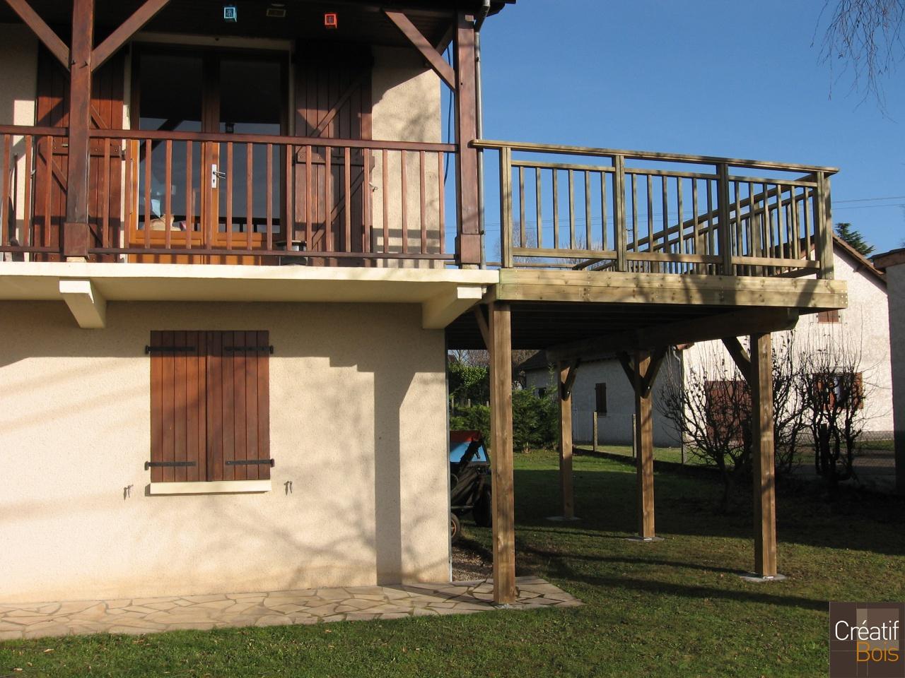 Balcon Terrasse Bois Terrasse Bois Pour Agrandir Un Balcon Deja Existant Vayrac Idees Conception Jardin Idees Conception Jardin