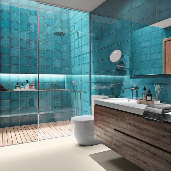 Carrelage Salle De Bain Design Int Rieur Carrelage Salle De Bain Bleu Bains Point P 2 Idees Conception Jardin Idees Conception Jardin