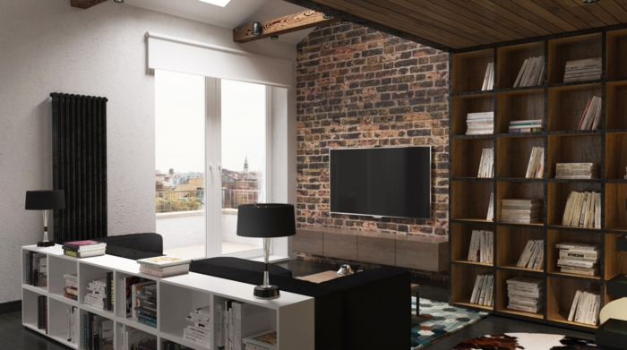 deco loft industriel decoration brique