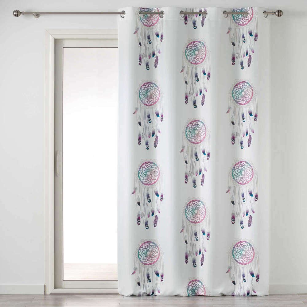 rideau a œillets pastel dream motif