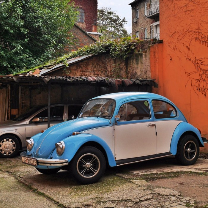 But how can I be bummed when awesome old VW bugs like this are hiding down a little side street in a back alley in Croatia, and I found it?