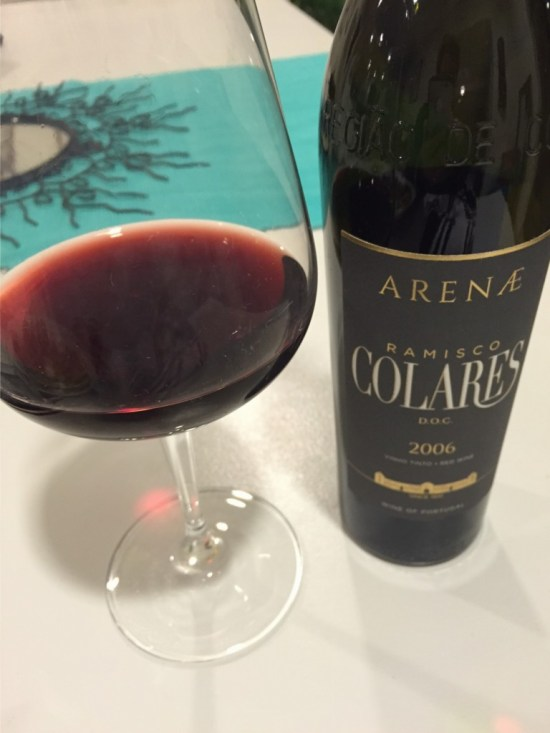 """This wine grows in one place in the world -- where I am staying. At $15 for 500ml, it's expensive for Portugal. But SOOO good. It's a """"Ramisco."""" A little acidic, it's great for anything grilled."""