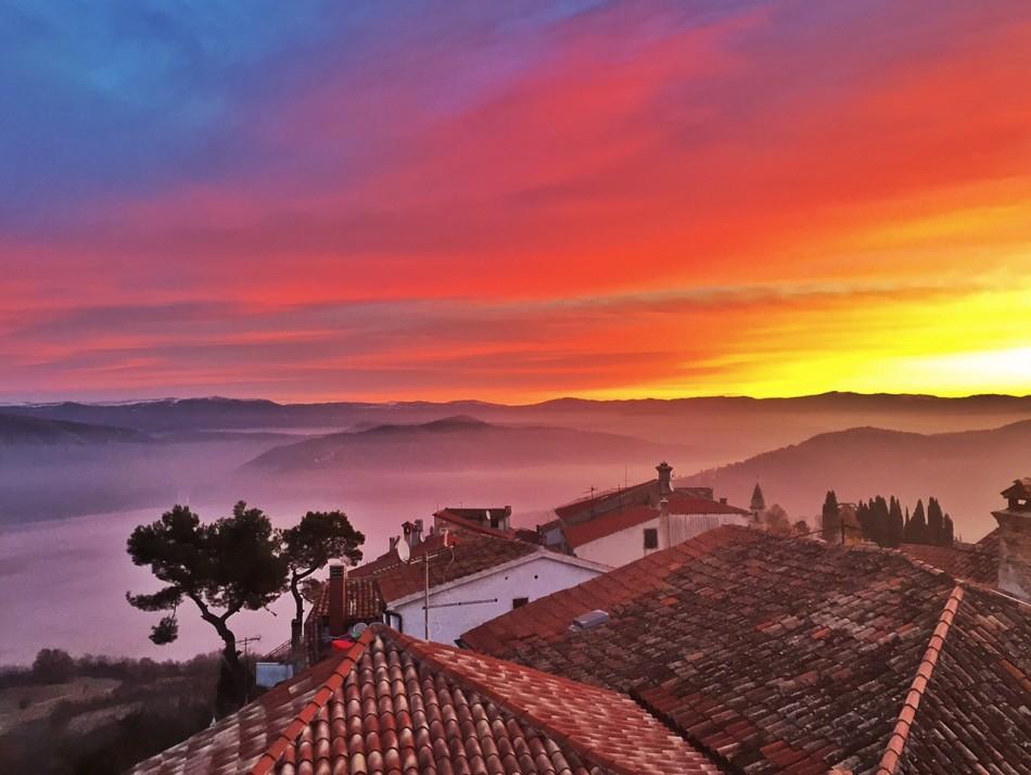 Sunrise on my last morning in Croatia, and I find myself longing to return.