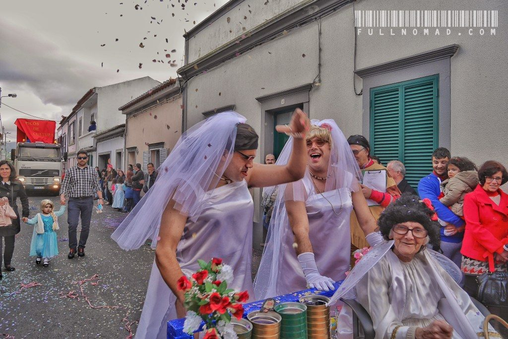 I happened upon a Mardi Gras parade in the last two hours of my car rental in the Azores, and this was the scene that stands out for me. I remember their loud laughter and how everyone around me laughed too. Would this moment even be remembered in 20 years had I not taken the photograph? In fact, taking the photograph makes me remember the cobblestone that nearly tripped me, the family I had to ask for permission to budge through for the picture, the policeman I talked to in trying to find out why this parade was happening, and it even brings back my last attempts to photograph the stone fences on rolling hills with the ocean as a backdrop in the dying light of a cloudy evening in early February. A photograph doesn't steal moments, it completes them like pieces of puzzles.
