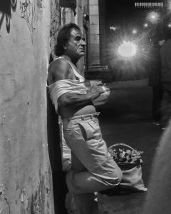 This man was photographed late on a night of drinking, and captures for me the mood I sometimes felt in the city.
