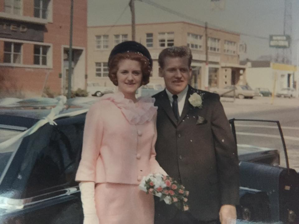 My parents on their wedding day. Both are dead now and I find myself alone. Being orphaned with no spouse or kids is a weirdly adrift feeling, but I hope to master this loss in some way, sometime in days ahead.