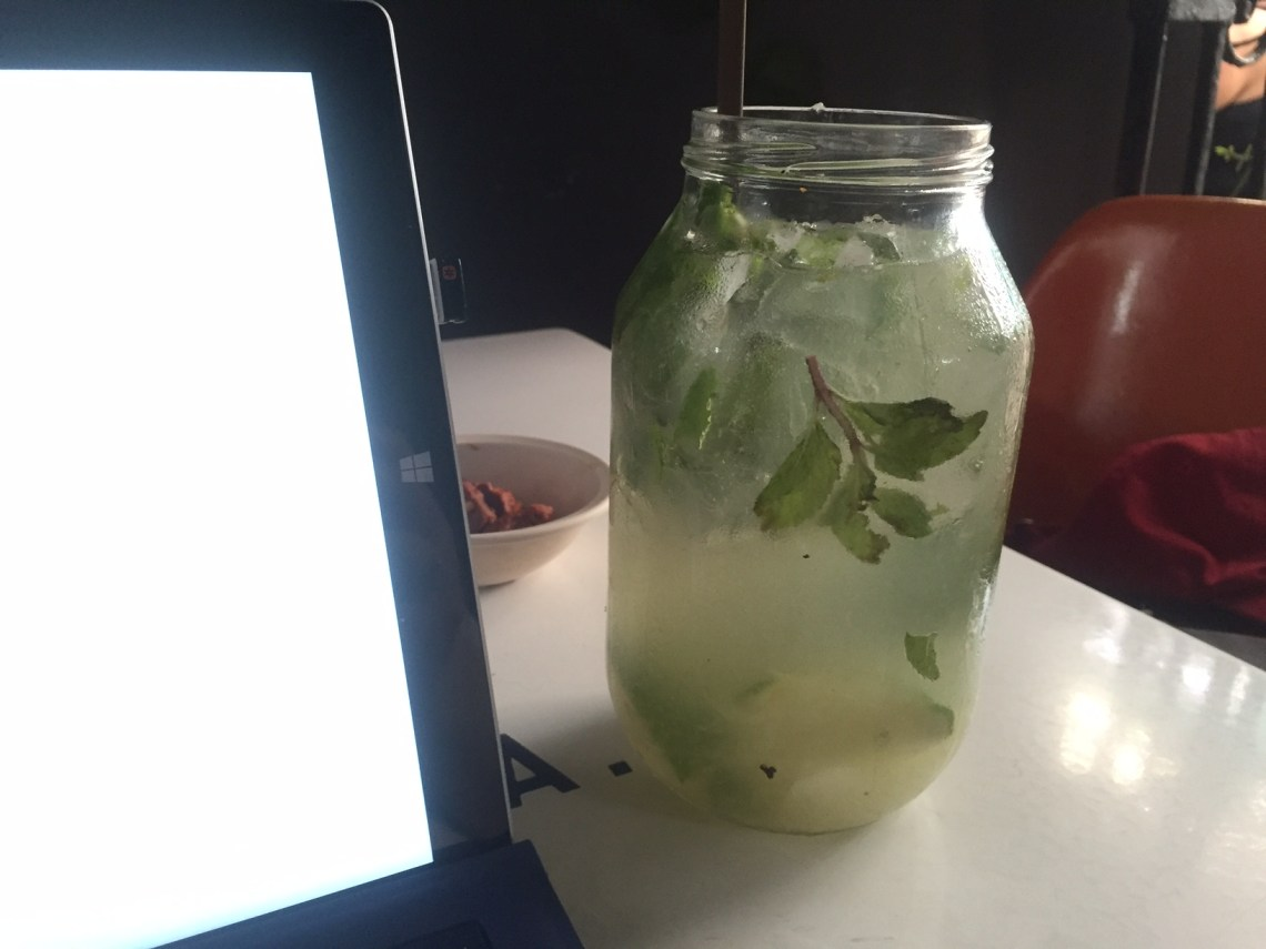 Arguably the greatest classic mojito of my life. Sweet, sour, and drunkening. Maybe $5-6 for a litre.