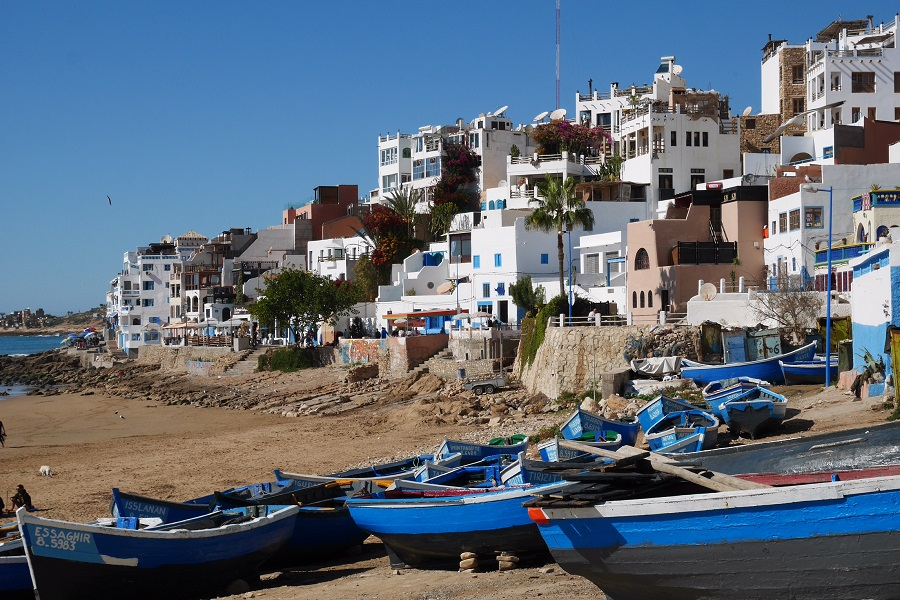 The village of Taghazout, Morocco, or my home for about 40 days.