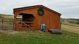Barn with wreath