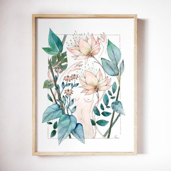 illustration aquarelle EDEN