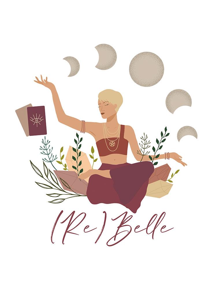 Création de logo, identité visuelle, Julie Rebelle, By Full of Lau.