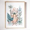 Tableau de Full of Lau, Déesse tropicale, aquarelle.
