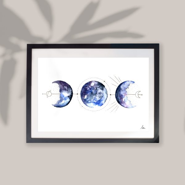 illustration aquarelle alignement céleste