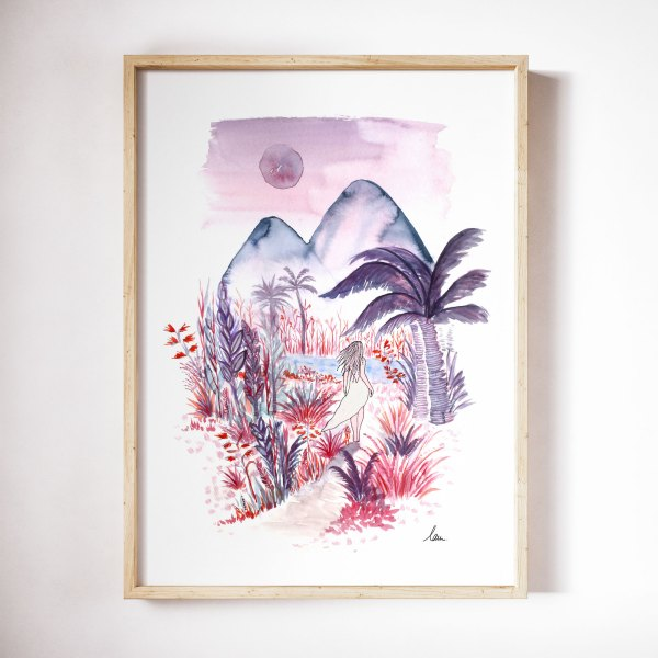 illustration aquarelle trouver son chemin