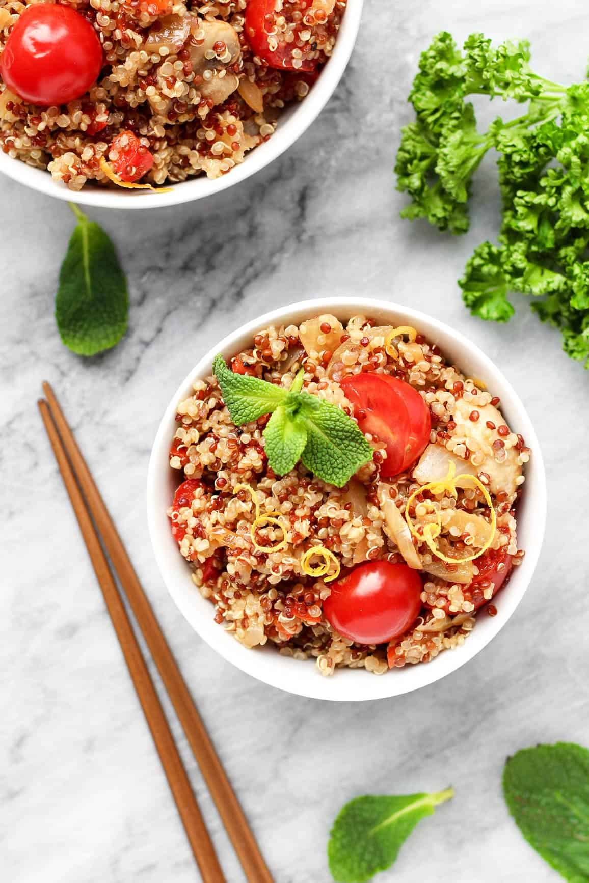 Mint Lemon Quinoa Salad
