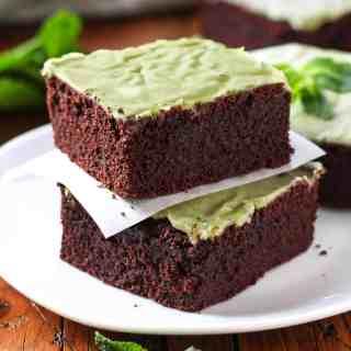 Vegan Mint Chocolate Brownies