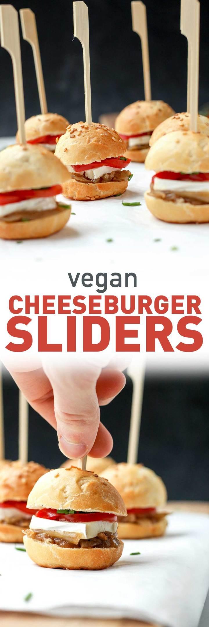 Vegan Cheeseburger Sliders