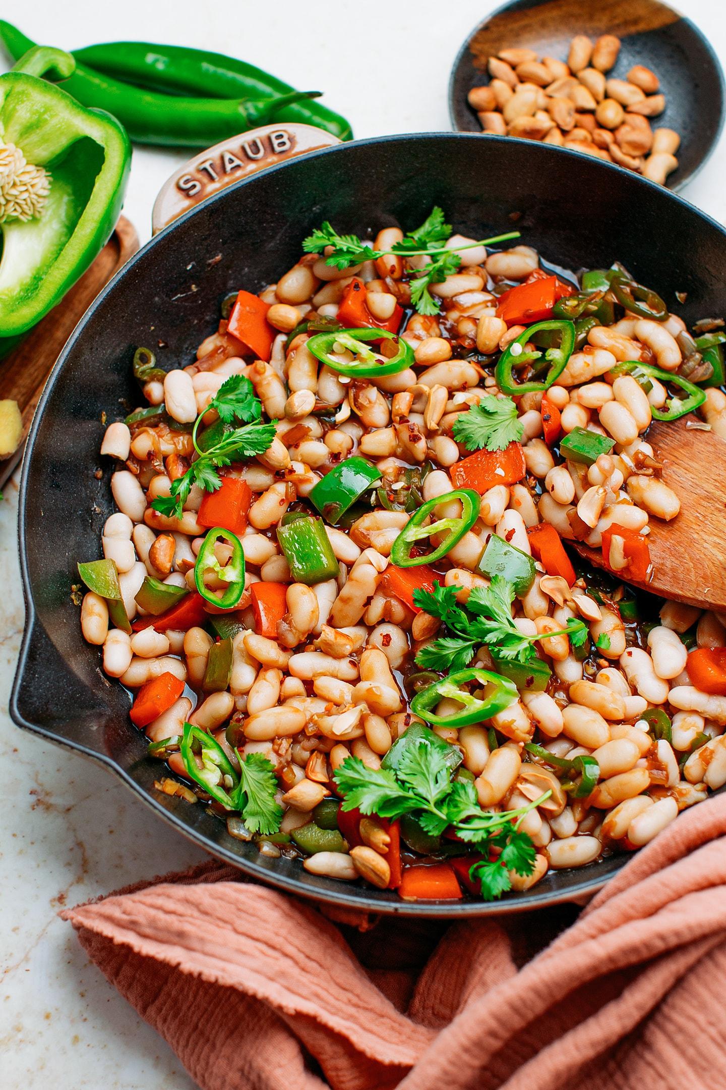 Vegan Kung Pao White Beans
