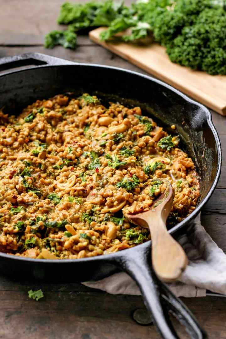 Curried Buckwheat with Kale