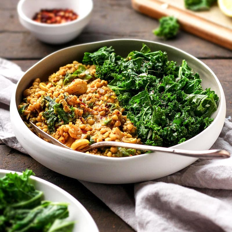 Cashew Buckwheat Curry With Garlic Kale Full Of Plants