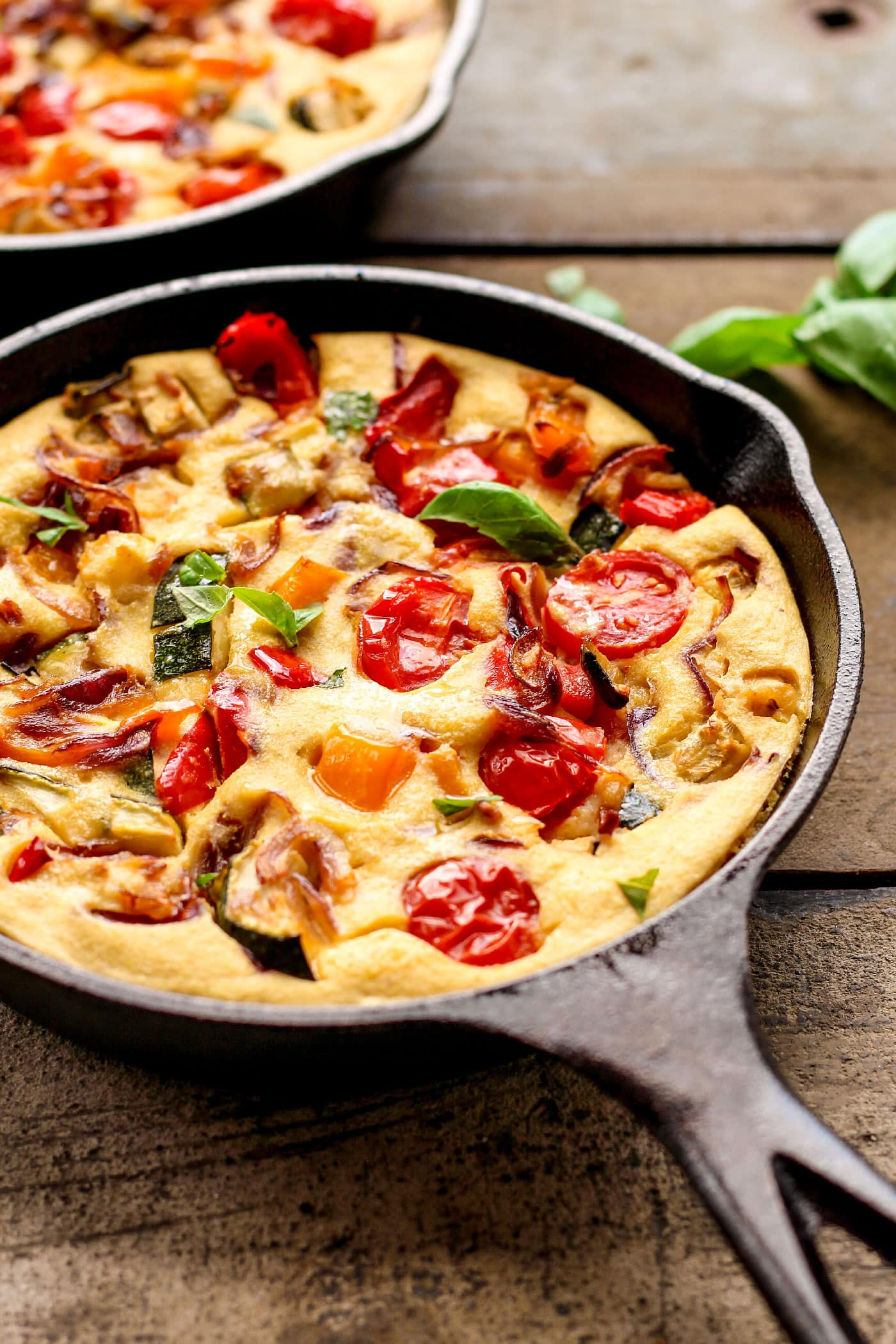 Vegan Mediterranean Skillet Quiches