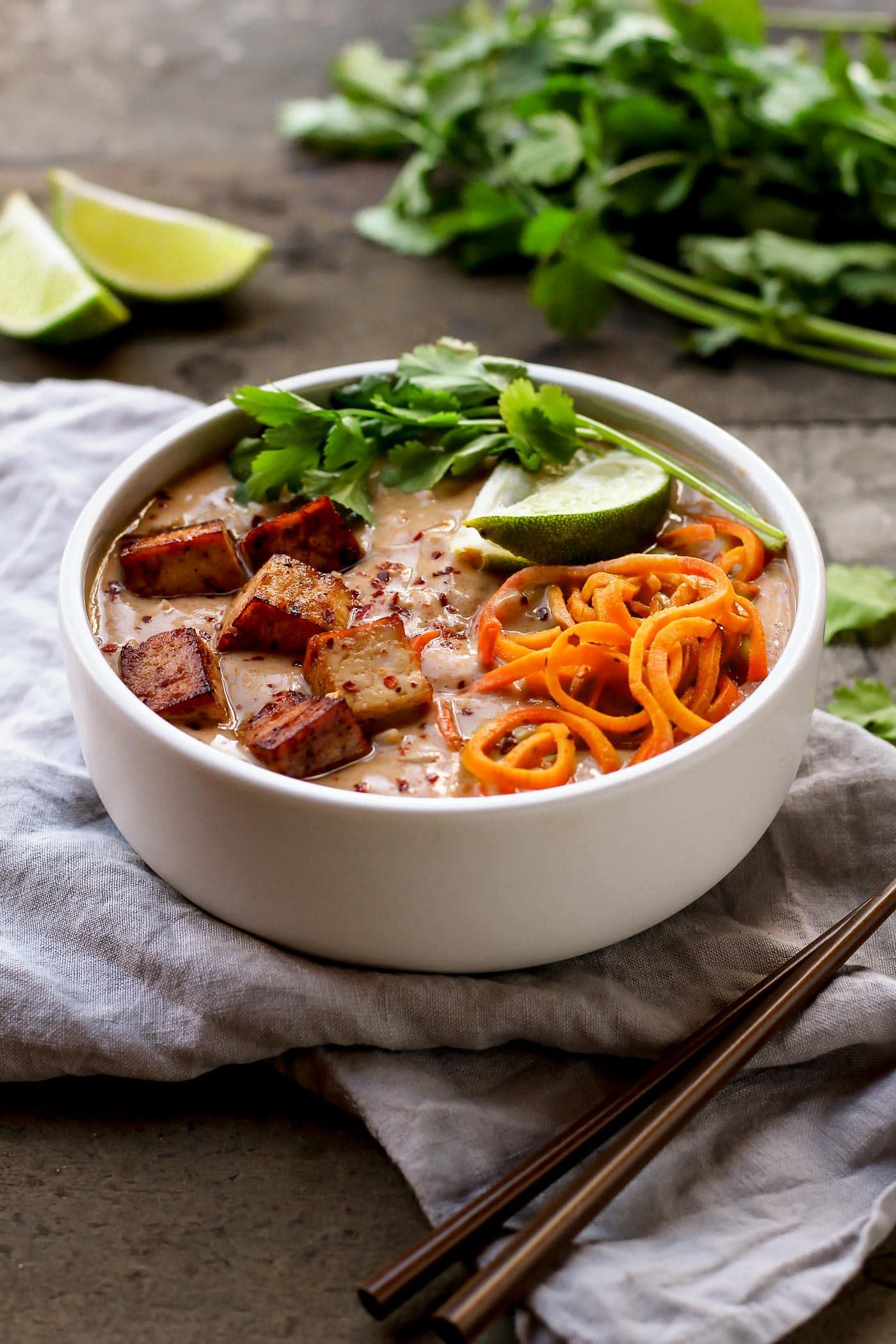 Thai Sweet Potato Noodles Soup (30 minutes)