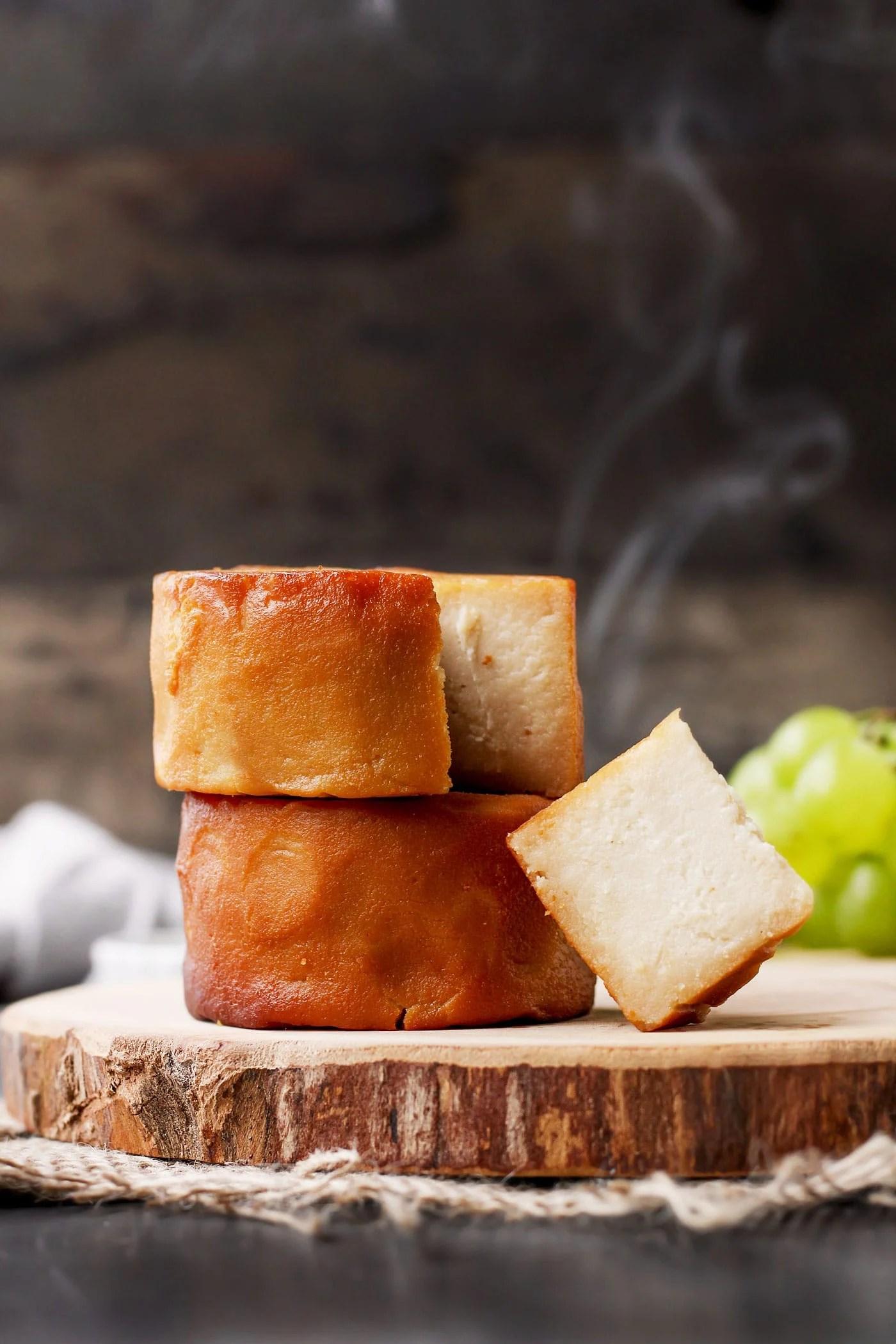 Hickory-Smoked Aged Vegan Cheese