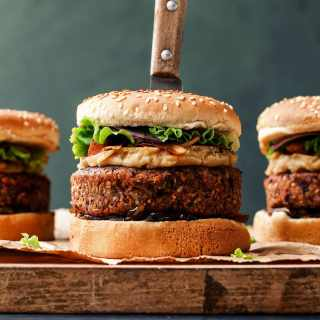 Vegan Pan-Seared Foie Gras Burgers