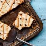 Peanut Butter Sheet Cake (Vegan + GF)