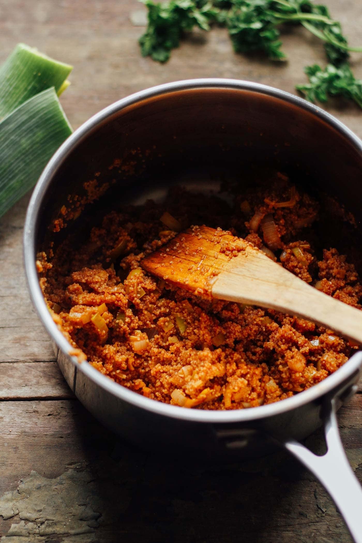 Ethiopian Sweet Potato Fonio Tacos
