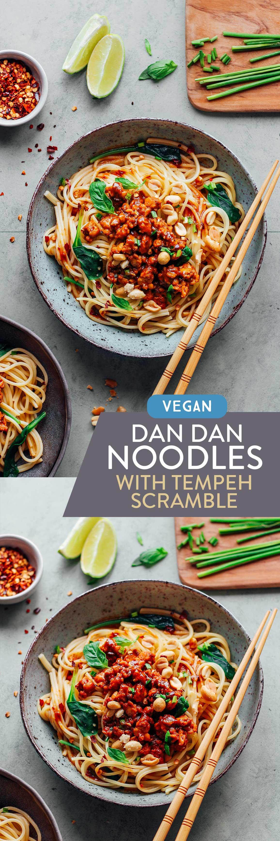 Dan Dan Noodles with Tempeh Scramble