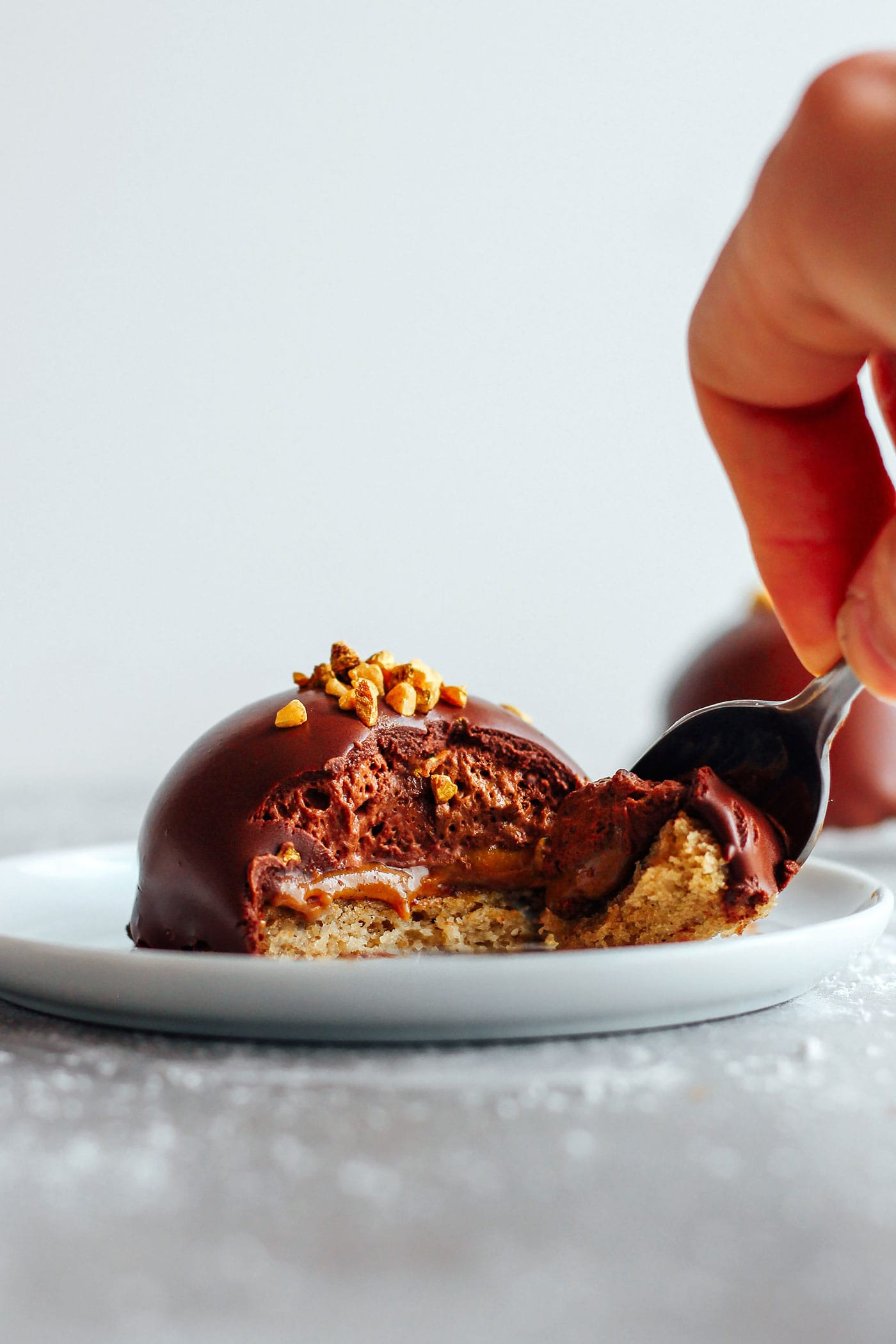 Praline Chocolate Mousse Domes (Vegan + GF)