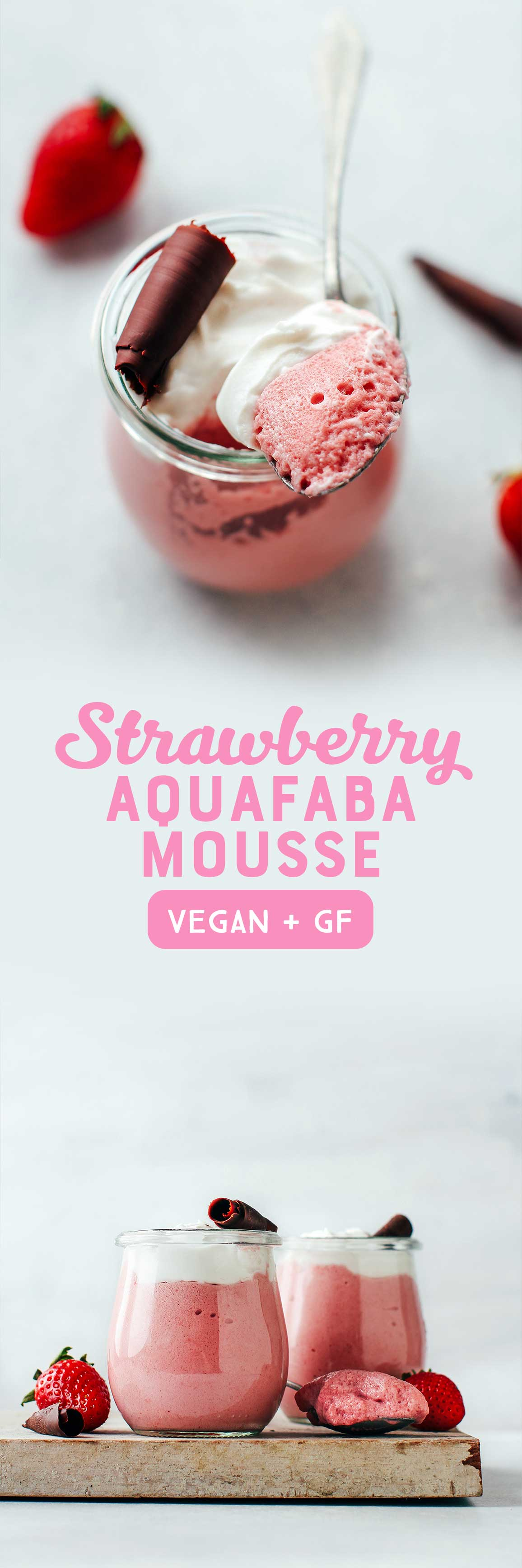Aquafaba Strawberry Mousse