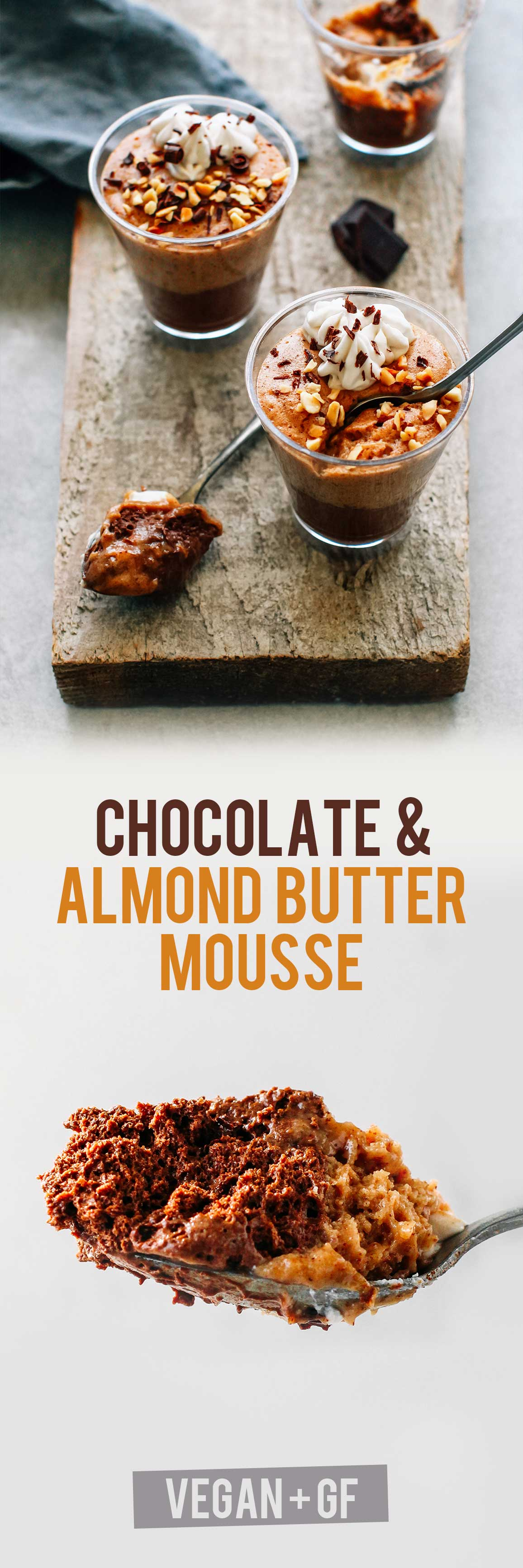 Almond Butter & Chocolate Mousse