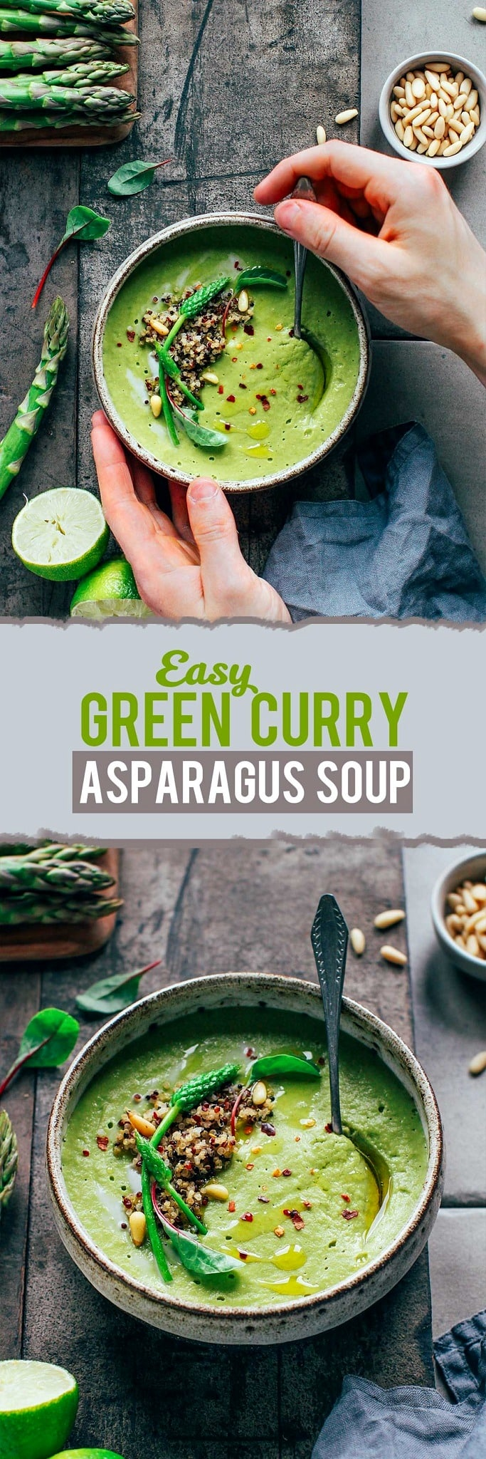 Easy Green Curry Asparagus Soup