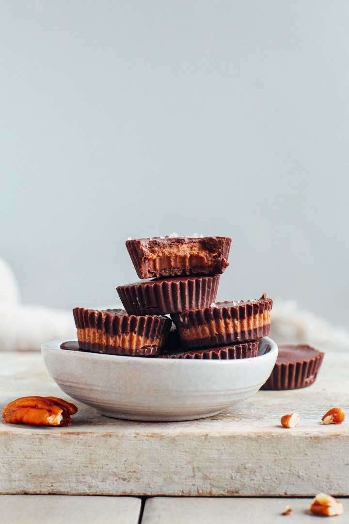 Pecan Chocolate Praline Cups (Vegan)