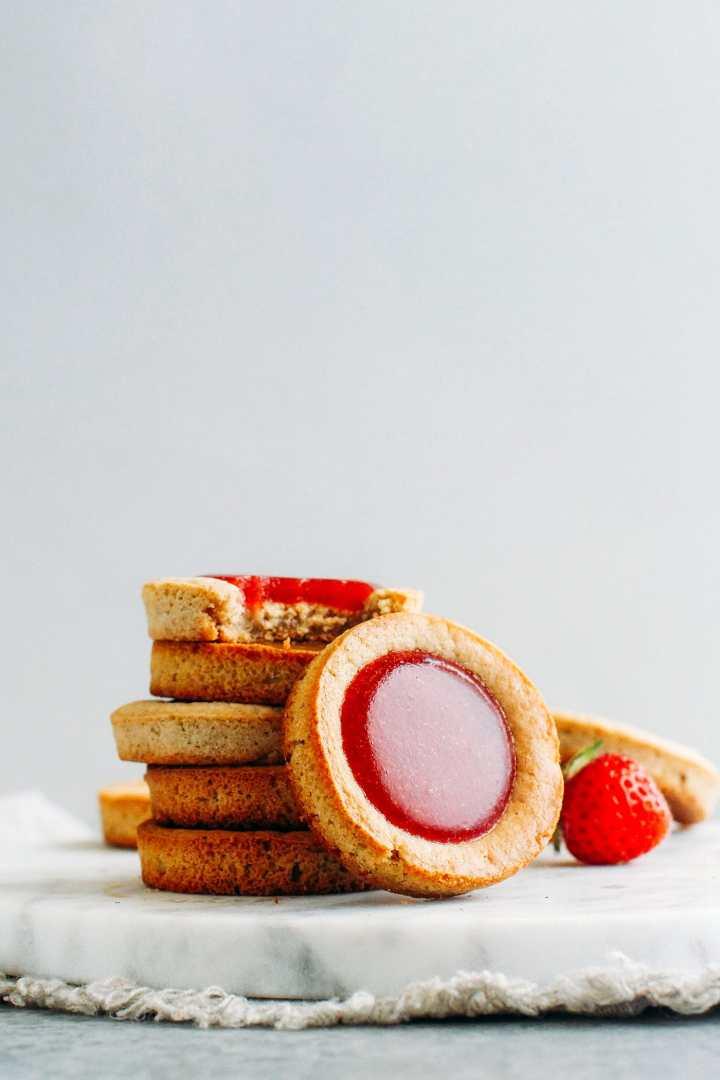 Soft Thumbprint Cookies - 3 Flavors! (Vegan + GF)