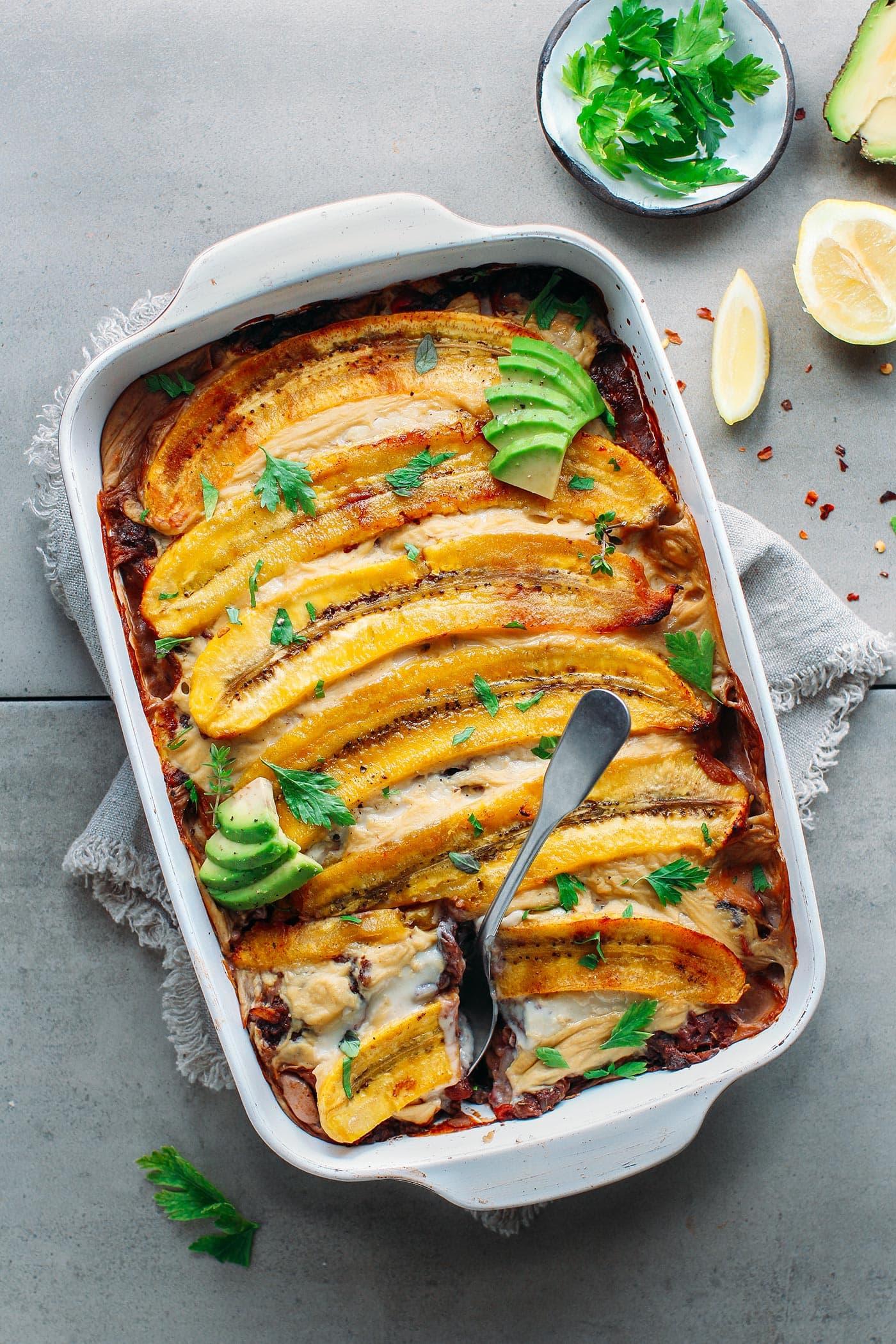 Vegan Plantain Lasagna (Pastelón)