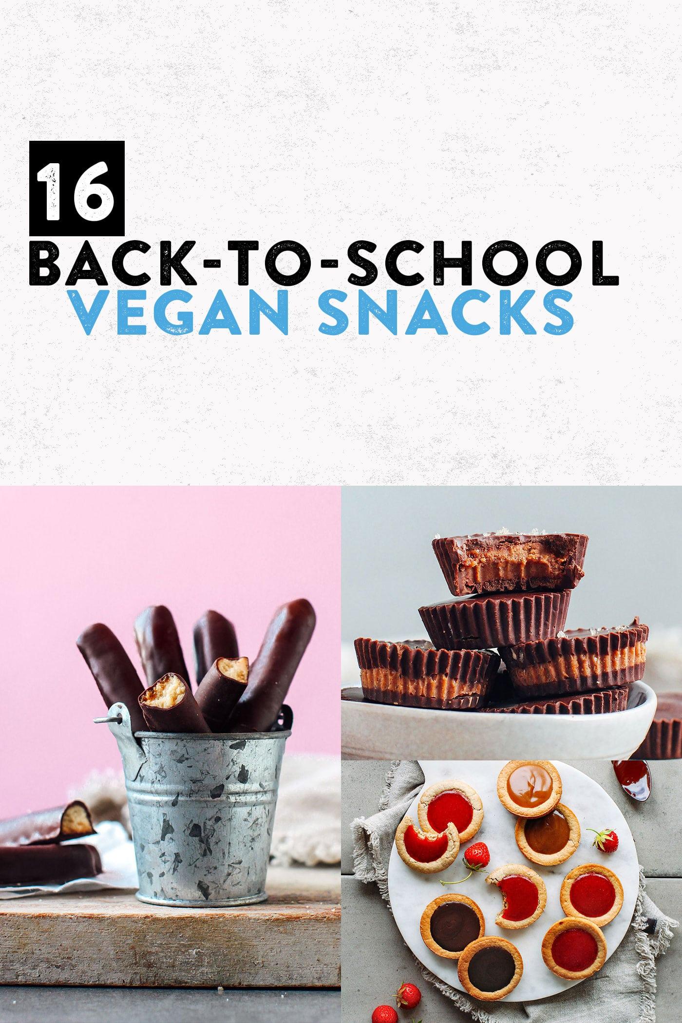 16 Vegan Back-To-School Snacks #plantbased #vegan #snack
