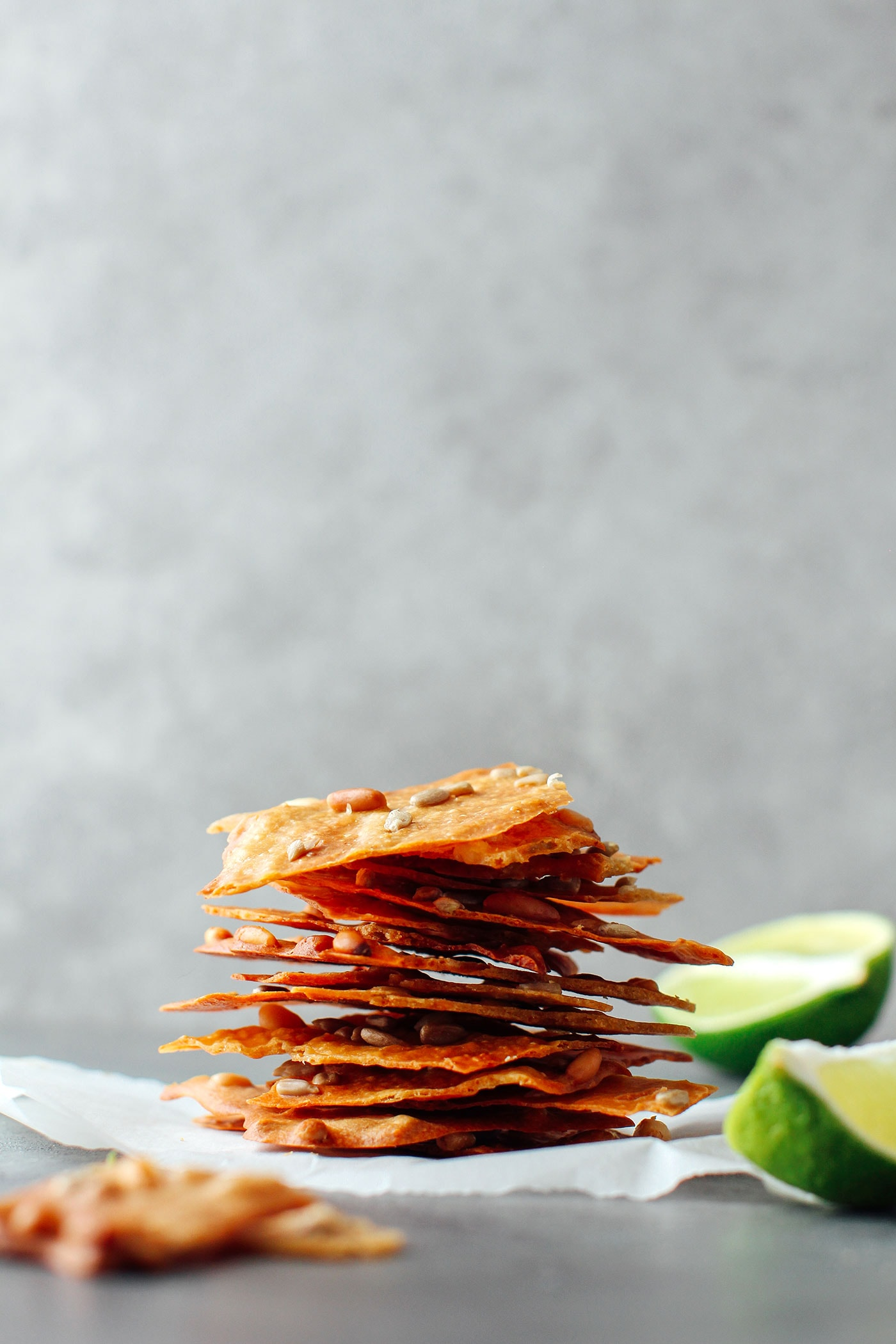 Seedy and Cheesy Tuiles (Vegan + GF)